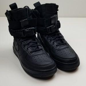 Nike SF AF1 Sneakers Women's Size 7 Triple Black